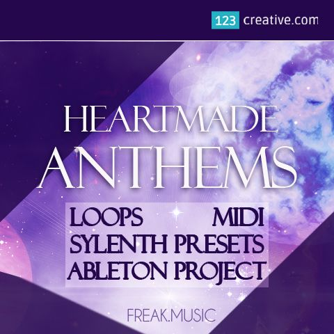 ► HEARTMADE ANTHEMS CONSTRUCTION KIT (Loops, Midi, Sylenth presets, Ableton project) inspired by the best EDM artists in the world: Martin Garrix, Netsky, Avicii. This pack is the best for Electro, Progressive, House, Trance and Big Room style tracks: https://www.123creative.com/music-production-midi-packs-and-construction-kits/1471-heartmade-anthems-construction-kit-loops-midi-sylenth-presets-ableton-project.html