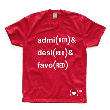 Admi(RED) & Desi(RED) Tee Red