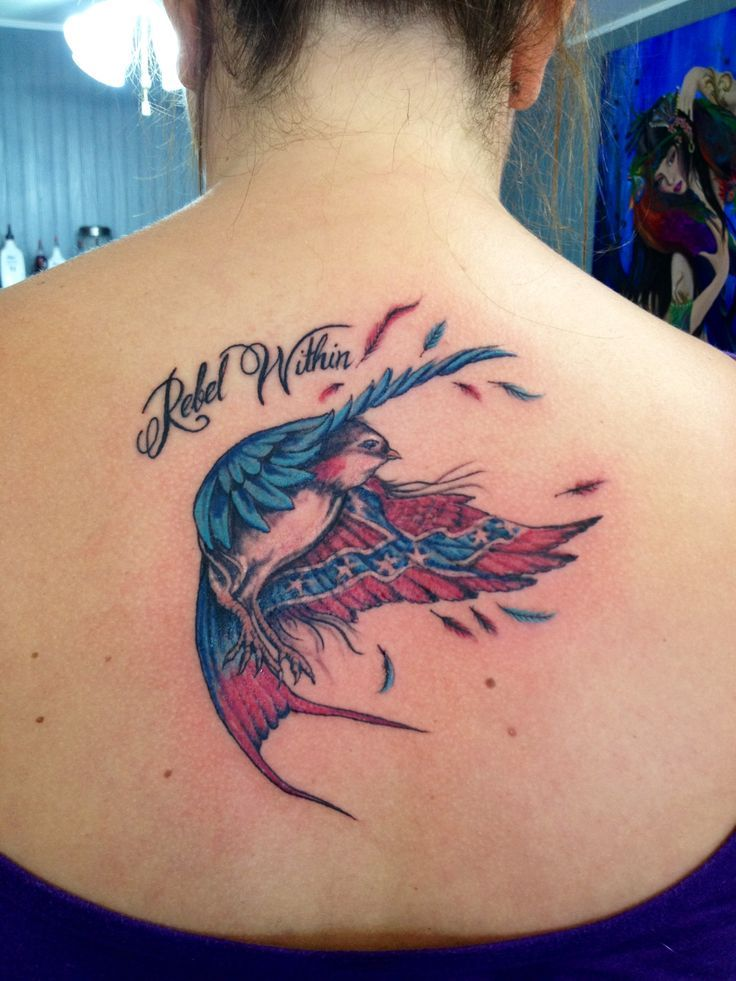Rebel flag bird tattoo | Rebel pride | Pinterest