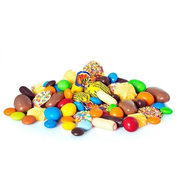 A Yummy chocolate mix.  Either as a Half Kilo: http://www.rainbowdesigns.com.au/products/Lots-of-Chocs or a Kilo: http://www.rainbowdesigns.com.au/products/big-chocolate-box