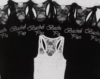 7 Bachelorette Party Tank Tops Shirt. van JWBridalShop op Etsy