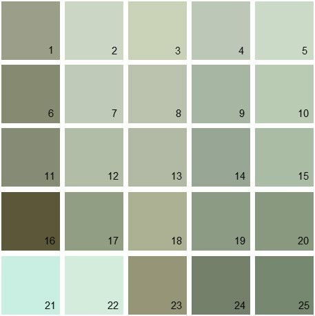 Benjamin Moore Green House Paint Colors - Palette 15