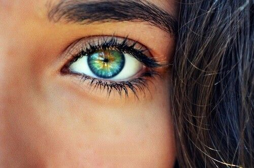 Incredible blue hazel green eyes