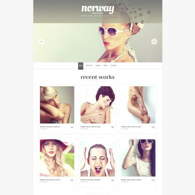 Photographer Portfolio WPML ready WordPress Template