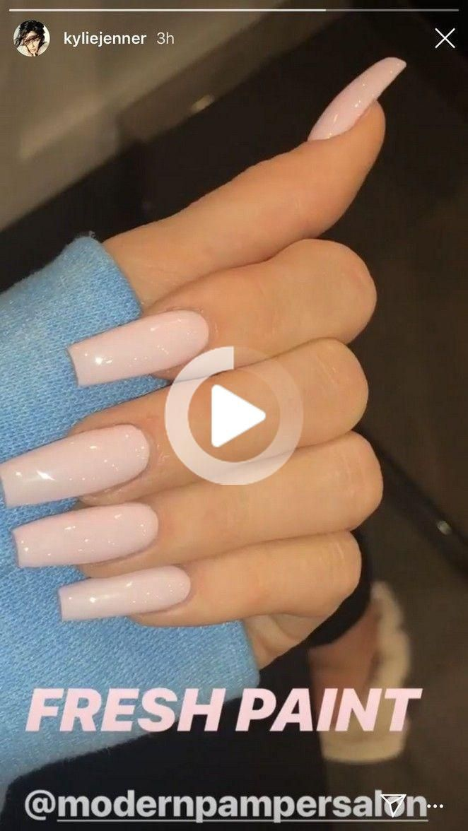 Nail Shape Videos Kylie Jenner Elpasonailtech Nailsofelpaso Acryilicnails In 2020 Kylie Jenner Nails Kylie Nails Long Acrylic Nail Designs