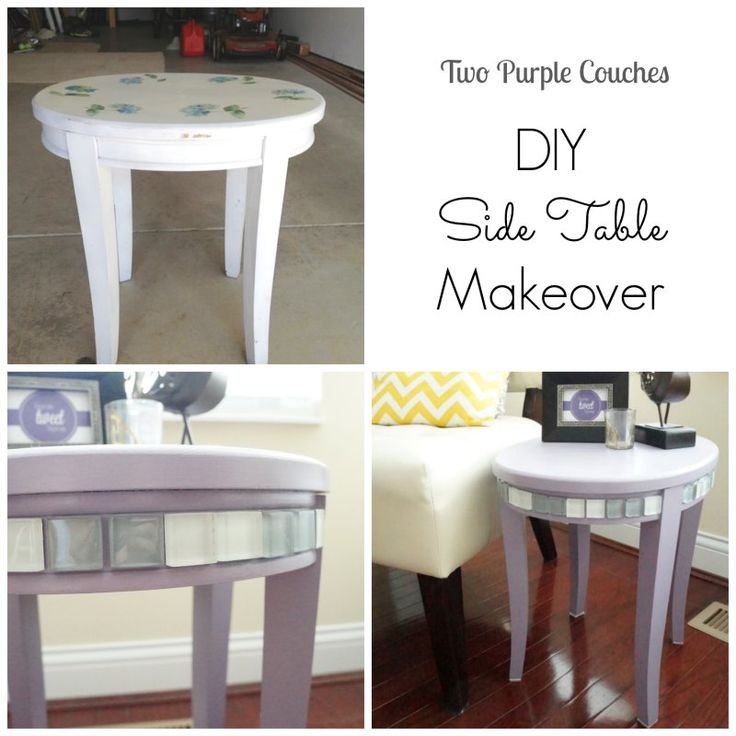 Diy side table makeover craft crafty and repurpose Eclectic coffee table makeovers