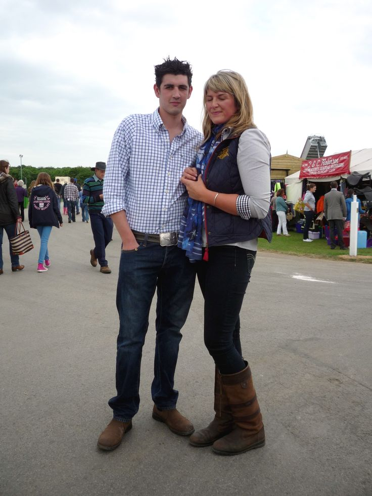 A fabulously stylish couple we spotted at the Show - we loved her outfit, and his RM Williams jeans and casual shirt was perfect for the occassion.