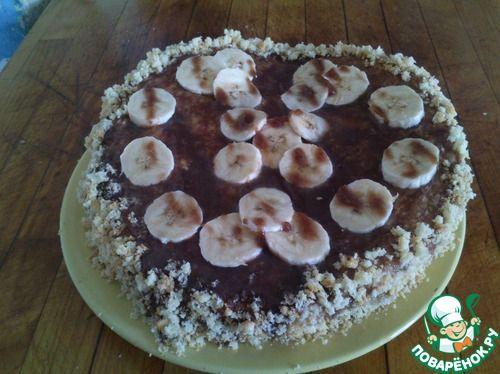 Торт с банановым кремом - кулинарный рецепт