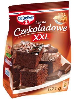 DR OETKER 672g Ciasto Czekoladowe XXL  • 35 porcji ciasta • czekoladowy smak • puszyste i delikatne ciasto • prosty, sprawdzony przepis