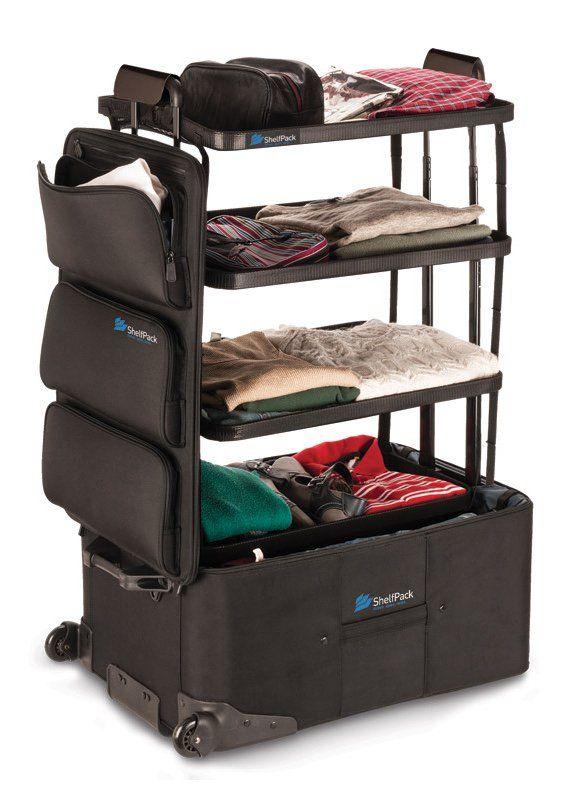 A ShelfPack acomoda os pertences para uma viagem e ainda faz o papel de um miniarmário para organizar as peças ao chegar ao destino.                                                                                                                                                                                 Mais