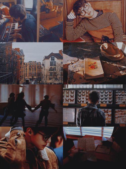 """☁️「exo!au」Adolescente Fluorescente ❝ Fluorescent Adolescent❞ ・ Ambos, Kyungsoo e Sehun, são personagens originais. """"Kyungsoo gostava de ver a beleza nos mínimos detalhes; uma reunião com seus colegas de classe para tocar teclados, as flores..."""