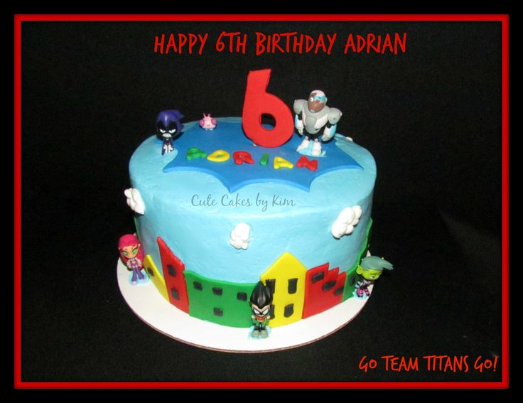 Go Teen Titans Cake by Cute Cakes by Kim