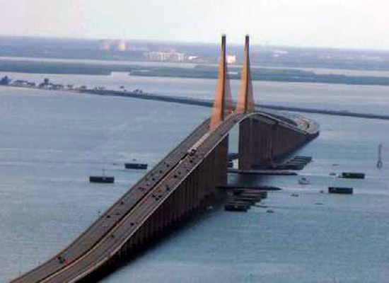 Sunshine Skyway Bridge Florida - I was terrified driving over this!