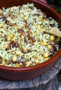 Pikanter Reis mit Kichererbsen 1 …   – vegetarien