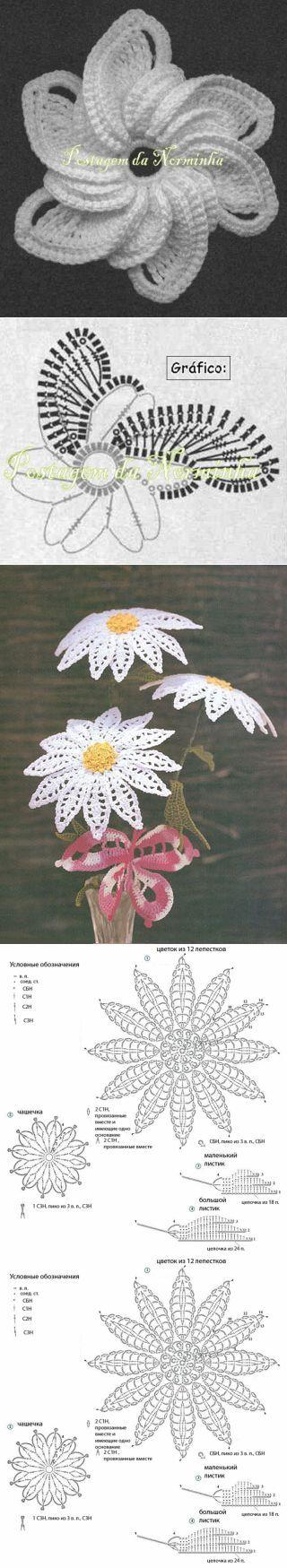 crochet flowers ... ♥ Deniz ♥