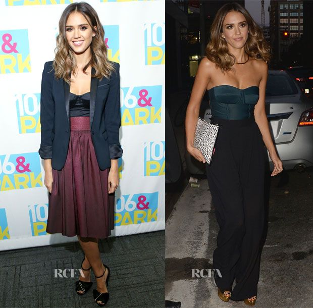 Jessica Alba In Katharine Kidd & Chris Gelinas – 106 & Park & Watch What Happens Live