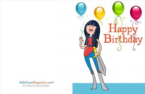 Birthday Cards #20  #Birthday #Girl #brave