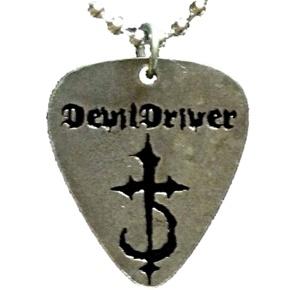 Devil Driver Guitar Pick Metal Pendant Necklace Devildriver