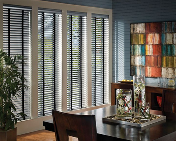 Custom #HunterDouglas #AluminiumBlinds at Elite Interiors. Serving Edmonton, Sherwood Park & Surrounding Areas. #YEG