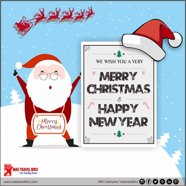 We Wish You A Very Merry Christmas & Happy New Year 🤗  Salam hangat dari kami keluarga Mas Travel Biro  Jam Operasional : 26 Desember 2017 (Closed)  Buka seperti bisa, 27 Desember 2017 09.00 - 17.00  #mastravelbiro #natal #marrychristmas #happynewyear #tahunbaru