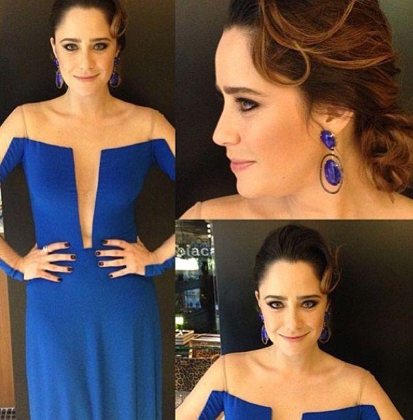 Maquiagem vestido azul bic