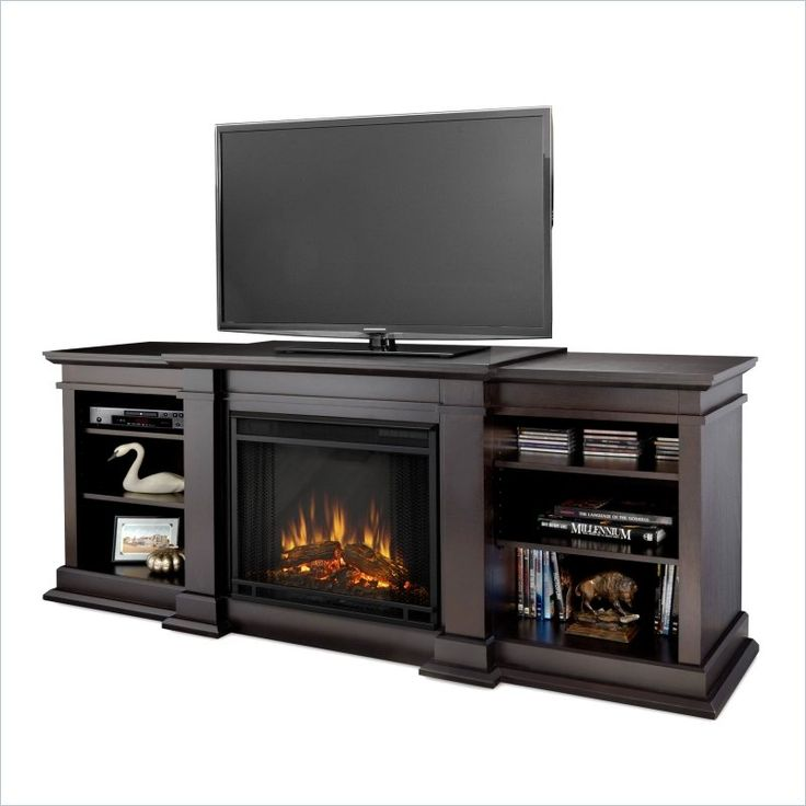 Real Flame Fresno TV Stand Electric Fireplace in Dark Walnut - 17 Best Images About Plug In Fireplaces On Pinterest Corner