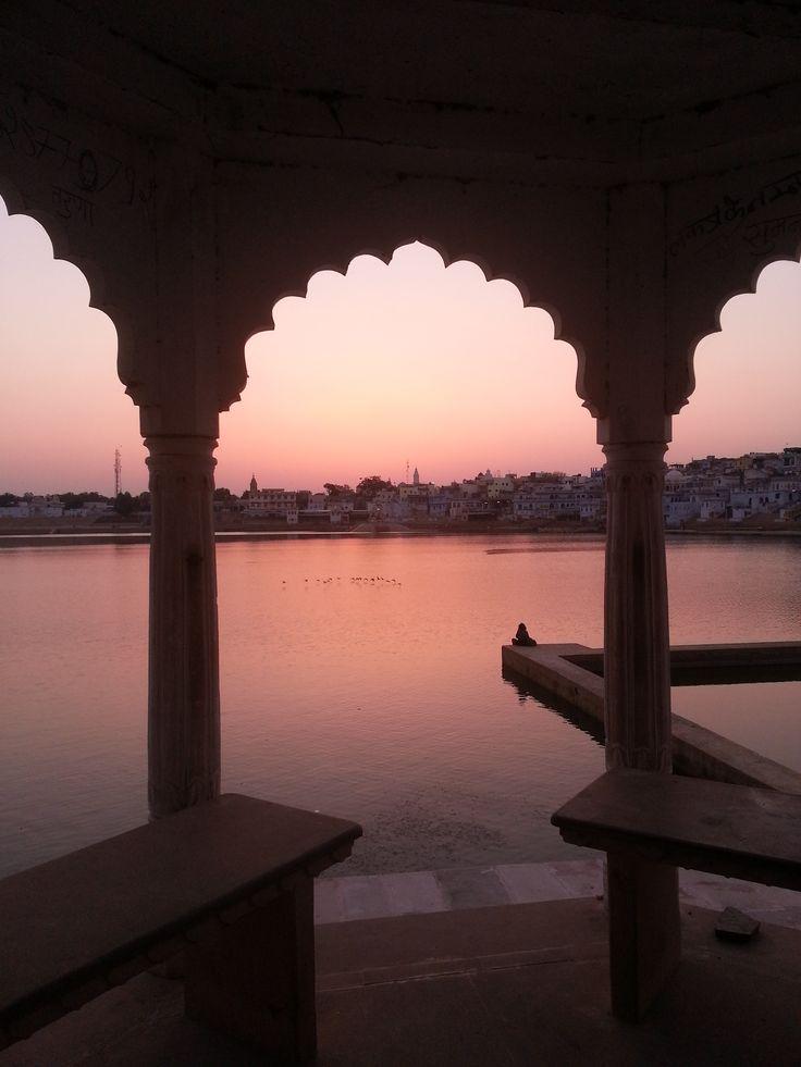 Holy Lake at sunset, Pushka, India