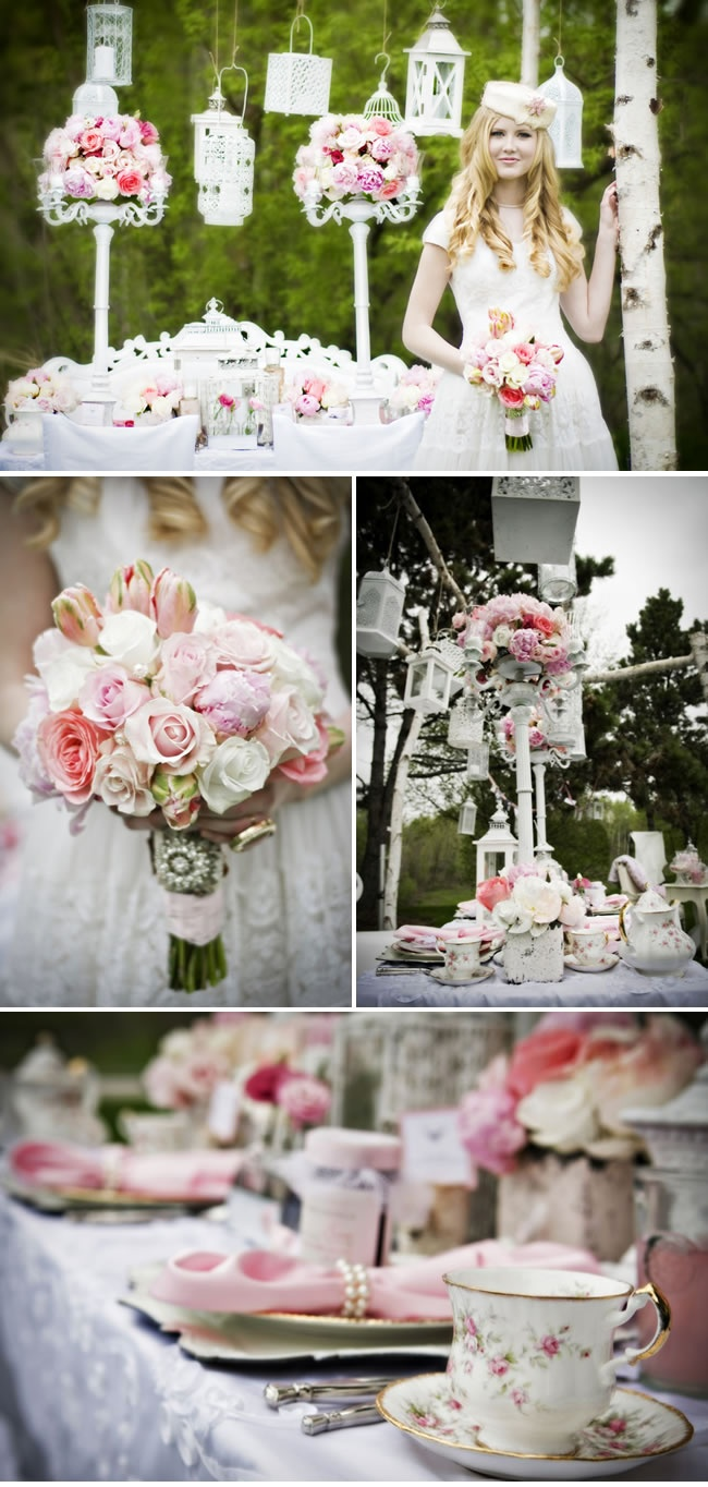 Love the vintage look of this wedding....