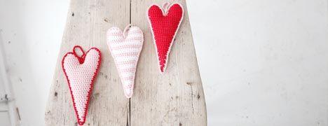 Free Crochet Pattern - Skinny Hearts