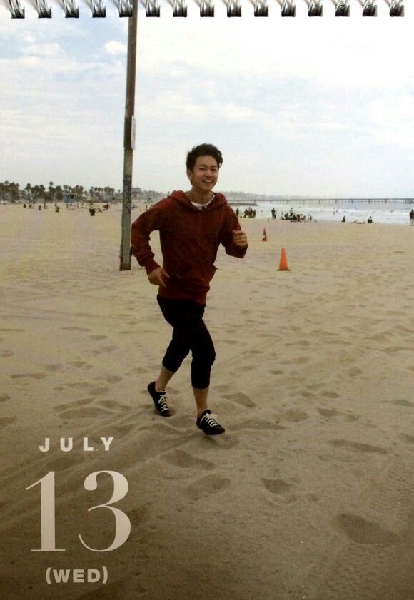 Takeru calendar, July 2016