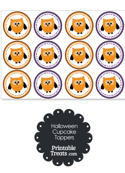 Halloween Owl Cupcake Toppers from PrintableTreats.com ...