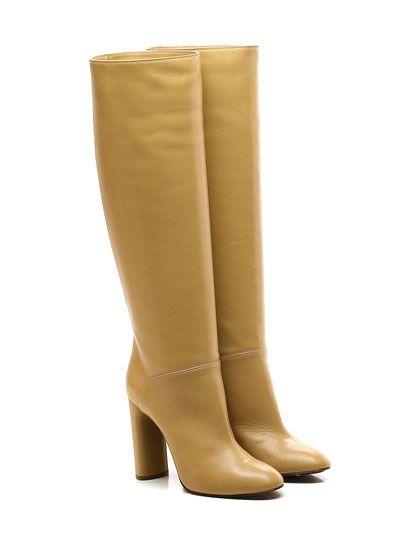 CASADEI - Stivali - Donna - Stivale in pelle vintage con suola in cuoio. Tacco…