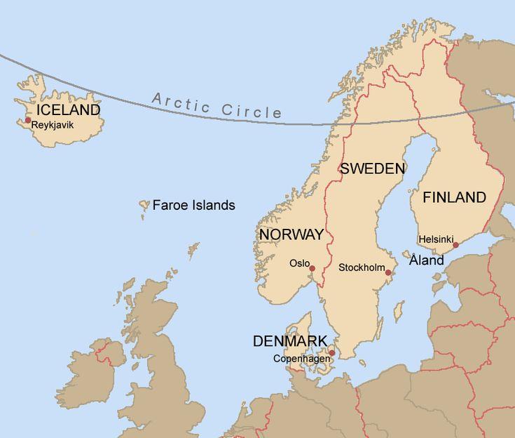 Best Nordic Country Info Finland Sweden Norway Denmark - Norway denmark map