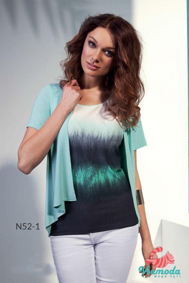 Блузка N52-1 Фирма производитель: Sunwear Страна производитель: Польша Артикул: N52-1 Размер: 44-54 Состав: 95% вискоза, 5% эластан