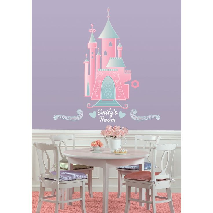 Disney Princess - Castle & Personalization Giant Wall Decal - 18.5W x…