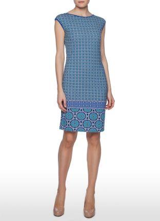 Трикотажное платье в мозаичный принт, без рукавов за 999р.- от OSTIN