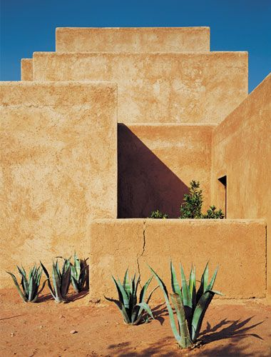 Studio KO - Villa D - Marrakech - ©Dan Glaser > Mud block composition