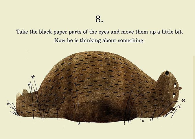 How to draw... a bear thinking about something by Jon Klassen - in pictures