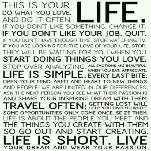 Love Quotes About Life: Good Quotes About Living Life To The Fullest. QuotesGram