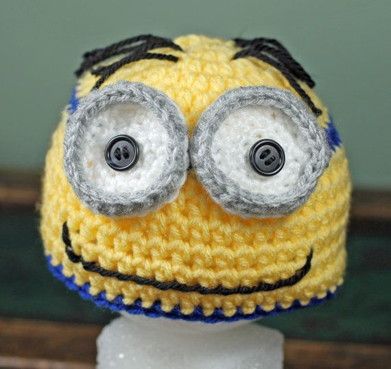 Crochet Despicable Me Minion Beanie (finished product) by TheBabyCrow