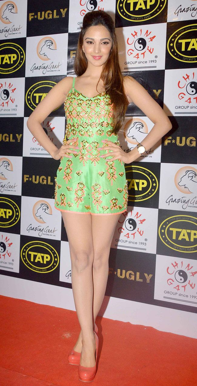 Kiara Advani poses for the shutterbugs in style during a promo event for Fugly. #Style #Bollywood #Fashion #Beauty