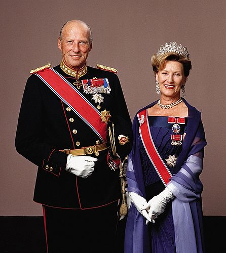 King Harald V and Queen Sonja of Norway.