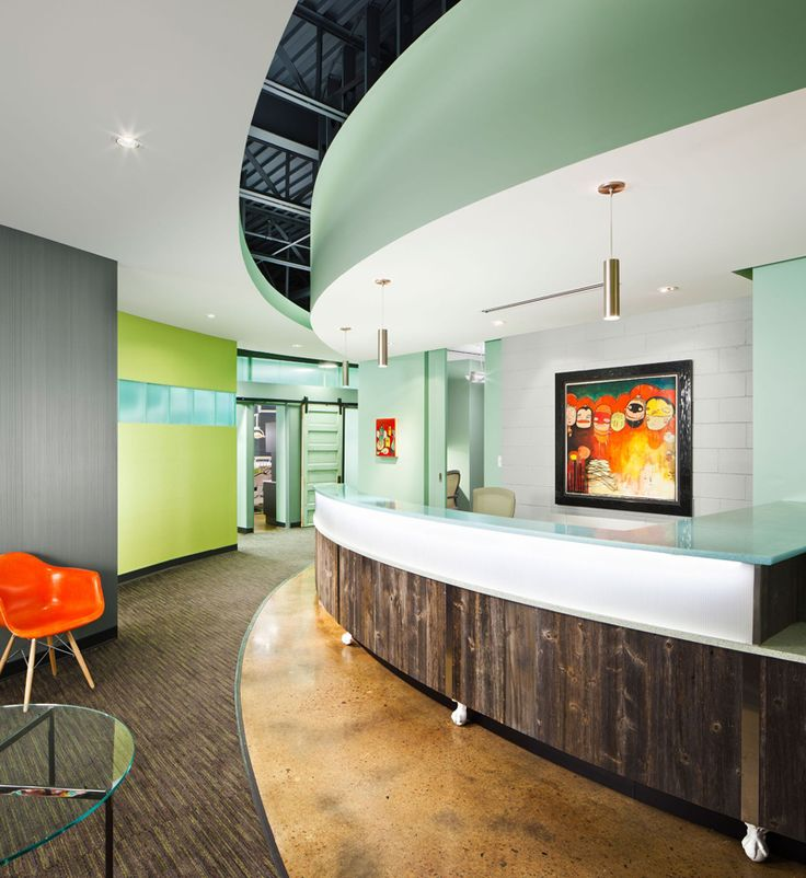 Amazing Ideas Of How To Design A Modern Dental Clinic For Children Part 1    Modern, Office Designs And Reception Desks