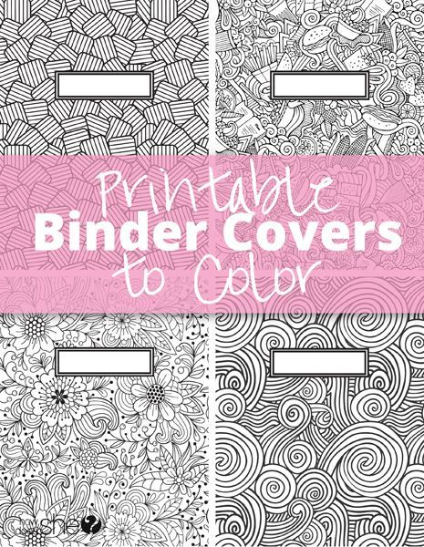 Printable Binder Covers To Color Free Download For Back School