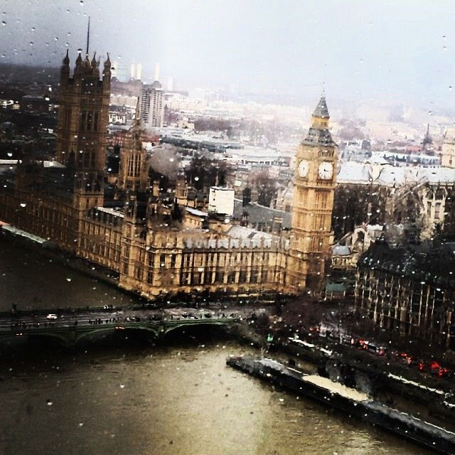 Rainy Day view from the London Eye!