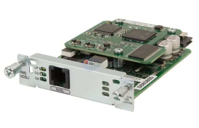 Cisco Router High Speed Wan Interface Card Hwic 1adsli Router Wide Area Network Interface
