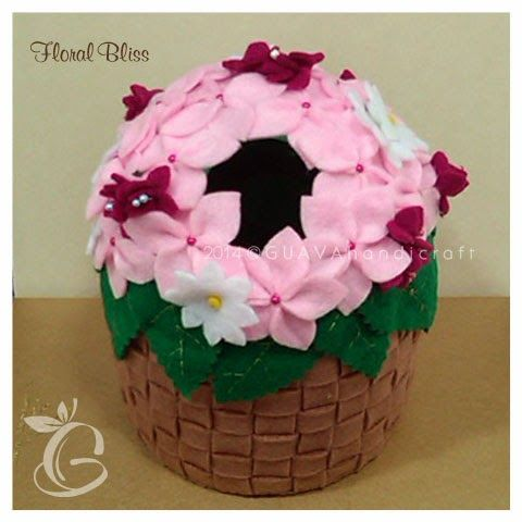 Floral Bliss - Roll Tissue Box