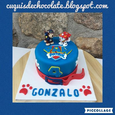 cuquisdechocolate : Tarta de La Patrulla Canina 3D