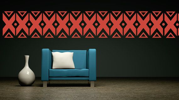 Wall Decal Geometric Navajo Triangle Abstract by WallStarGraphics, $150.00