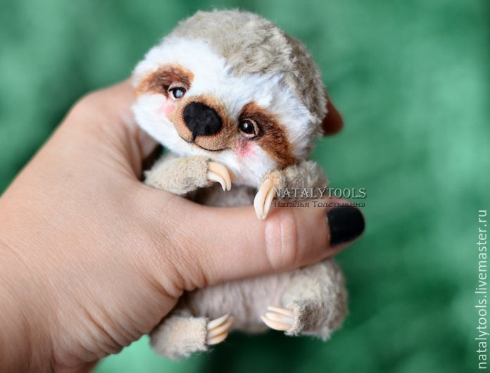 Buy Baby Sloth toy OOAK handmade teddy sloth - natalytools, sloth, sloth toy